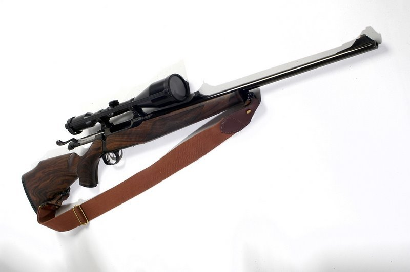 bolt-action rifle that uses a four-round magazine of 30-06 ammunition.