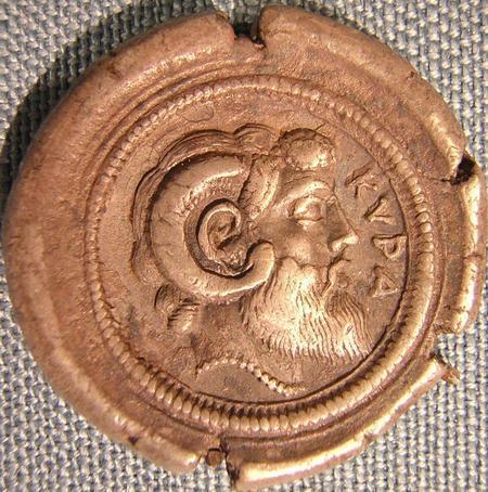 Zeus Amun on a coin